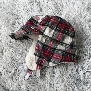 GAP Shearling flannel bomber hat